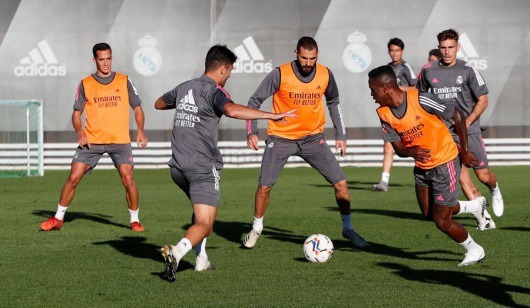 Takuhiro Nakai 'Pipi' in training with the first team real madrid