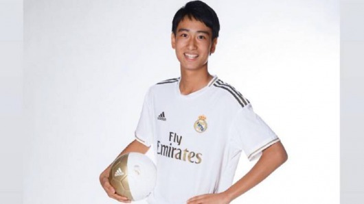 Takuhiro Nakai Pipi in training with the first team real madrid