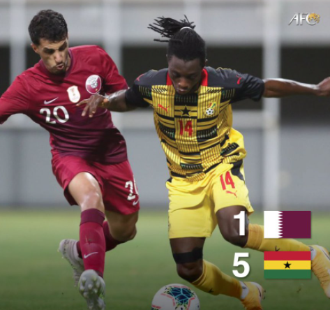 Ghana beat Qatar 5–1