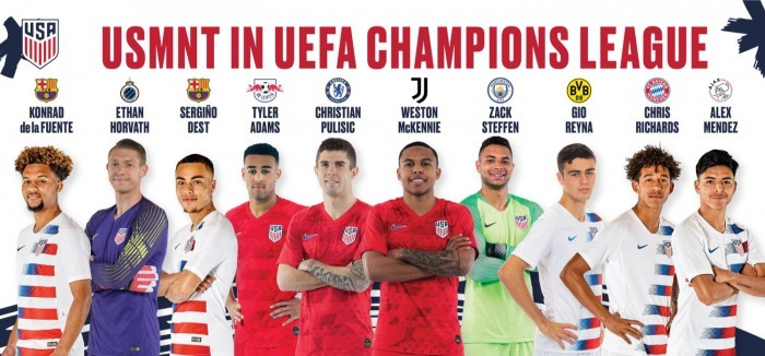 USMNT in UEFA CHAMPIONS LEAGUE