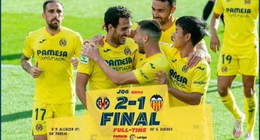 Villarreal 2-1 Valencia kubo assist