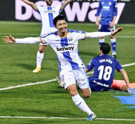 Leganés-Oviedo 2-1 Shibasaki Gaku goal
