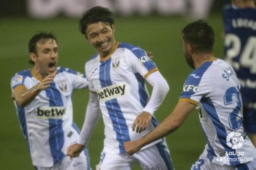 Leganés-Oviedo (2-1) Shibasaki Gaku goal
