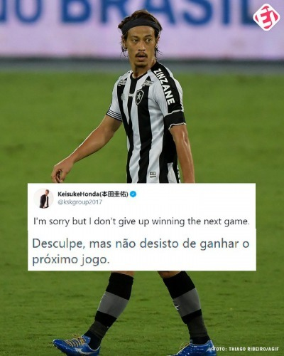 After failing to defeat Botafogo to Cuiaba, Honda went to social media to apologize
