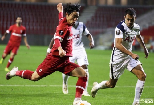 Miyoshi Koji Royal Antwerp 1-0 Tottenham Hotspur Europa League