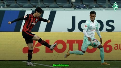 Kamada assist Eintracht Frankfurt 1-1 Werder Bremen