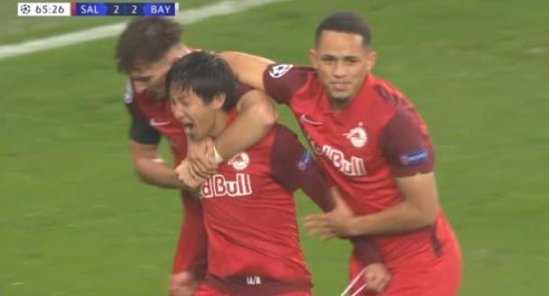 RB Salzburg [2]-2 Bayern Munich - Masaya Okugawa goal