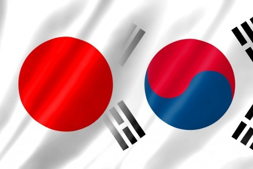 Japan and south korea flag