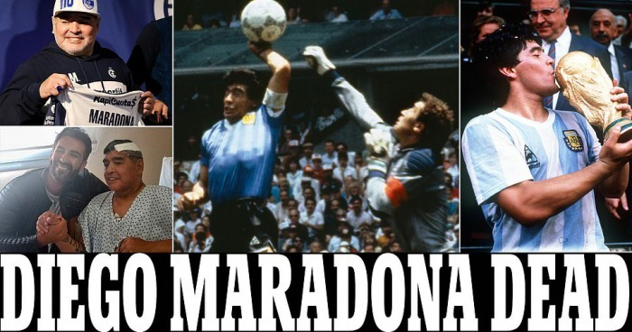 Maradona passed away at the age of 60