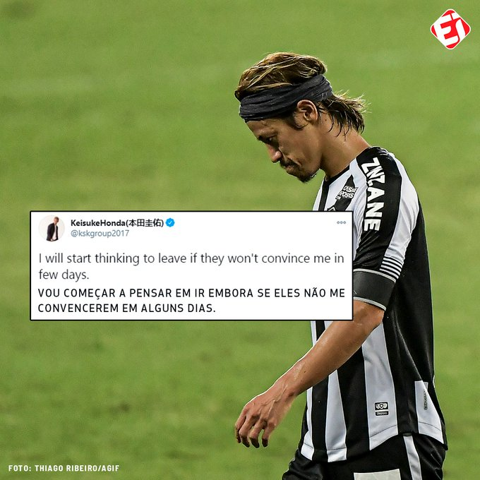Keisuke Honda threatens to leave Botafogo after the third coach is fired in less than two months