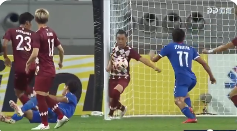 Guangzhou Evergrande are OUT from ACL League Group stage handball of the Vissel Kobe gave Suwon Samsung a penalty