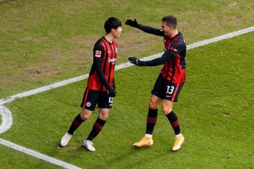 Frankfurt [1] - 0 Dortmund Daichi Kamada goal