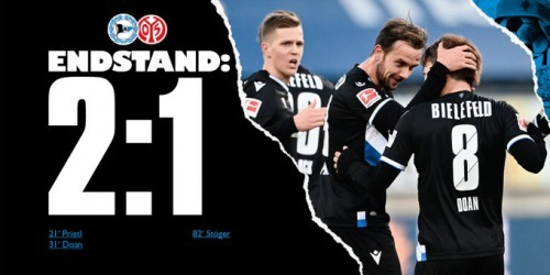 Arminia Bielefeld 2-0 Mainz - Ritsu Doan goal