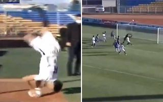 Ridiculous goal directly from a somersault throw-in in the PGPL today
