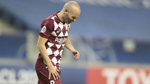 Iniesta was operated for a muscle tear, and will be out for four months