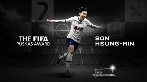 Son Heung-Min wins the 2020 Puskas Award