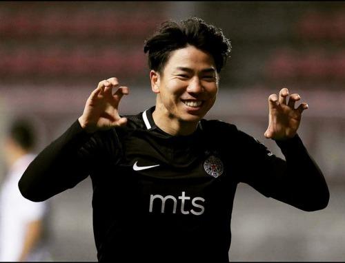 Asano Takuma goal against Vozdovac reached 9 goal second in the Serbian league top scorers