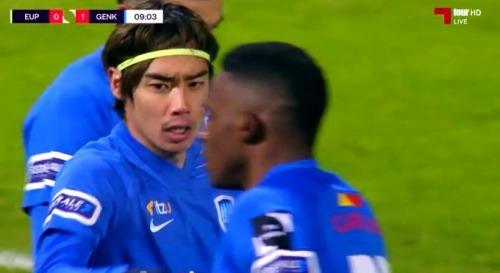 Eupen 0 Genk 1 Ito Junya goal