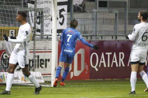 Eupen 1_4 Genk Ito Junya goal