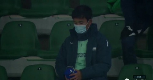 Kubo on the bench Elche vs Getafe
