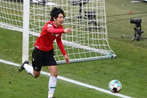 Haraguchi goals Hannover 2-3 FCSP