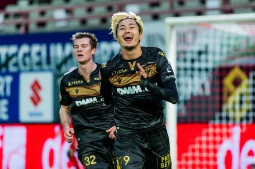 Suzuki Yuma goals Kortrijk vs STVV 0-2