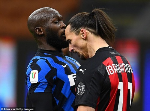 Lukaku and Zlatan Ibrahimovic bumped heads during a heated exchange