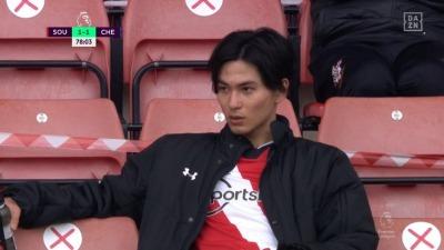 Southampton 1_1 Chelsea Takumi Minamino goal in stand