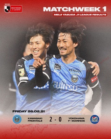 kawasaki_frontale continue their winning streak in the opening game of the 2021