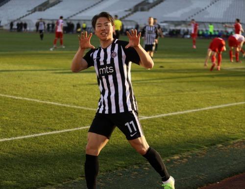 Asano Takuma 2 goals Partizan 2_0 Vojvodina