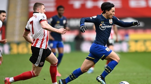 Sheffield United 0-2 Southampton Minamino