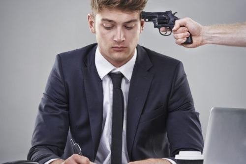 gun pointed at head