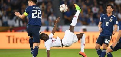 qatar goal against japan asian cup final