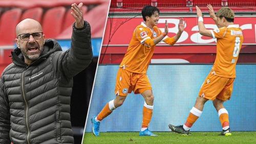 Leverkusen 1-2 Bielefeld Doan ritsu Okugawa masaya goal