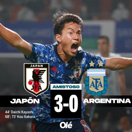 Hayashi Daich goal japon 3 x 0 ARGENTINA