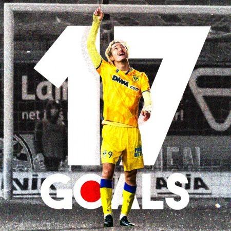 17 goals for our number 9 Suzuki Yuma stvv 1 Japanese top-scorer in Europe