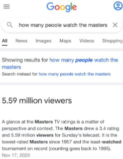 masters tv iewers