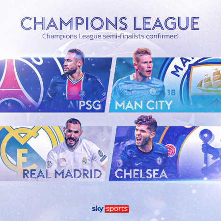The UCL final four is confirmed in 2021