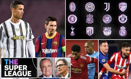 European football is at war after 12 clubs signed up to a breakaway Super League