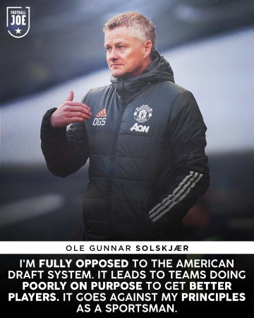 A draft system wouldnt work in the Premier League, according to Ole Gunnar Solskjær