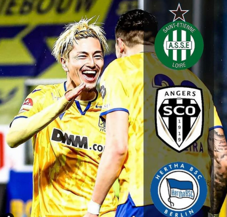 Yuma Suzuki is linked to clubs in France, Germany, and Italy Saint-Étienne, Angers and Hertha Berlin