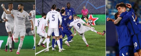 Real Madrid vs Chelsea - Karim Benzema hammers hosts level after Christian Pulisic goal