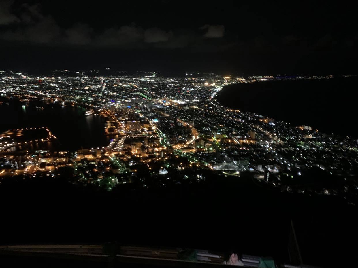 函館山からの夜景 R2/10/21