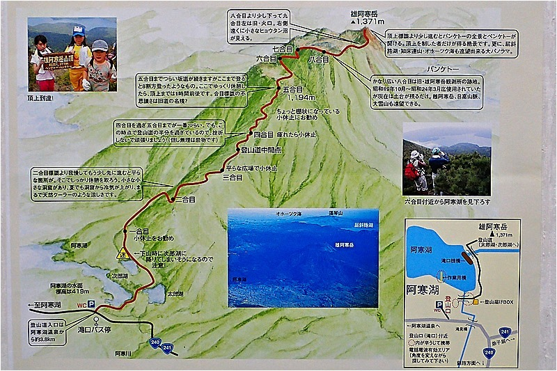 雄阿寒岳登山図