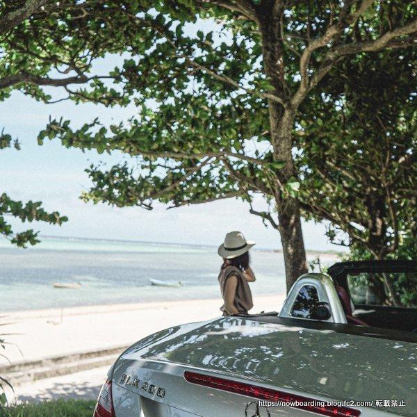 沖縄 オープンカーでドライブ