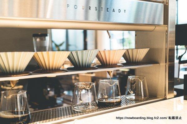 ニッコースタイル名古屋のStyle Kitchen 「Cafe & Bar」のコーヒーマシン