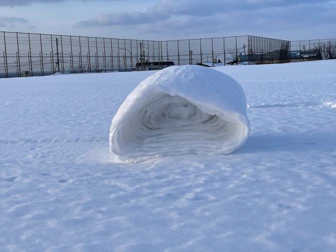 雪まくり アップ