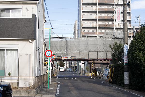 瀬戸電高架工事中