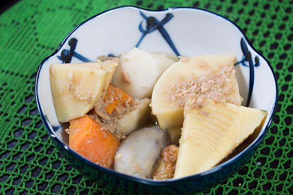 里芋とタケノコ