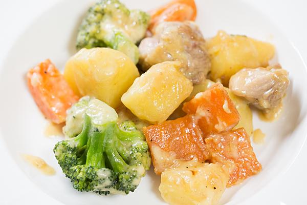ジャガイモと野菜